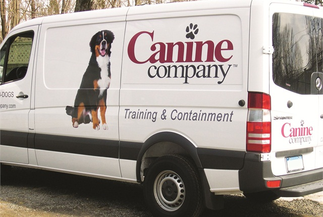Canine Company went with vinal decals instead of a full vinyl wrap on its fleet vehicles.