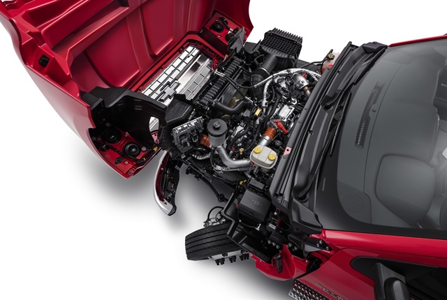 Photo of 2019 Silverado 6500HD engine compartment courtesy of Chevrolet.