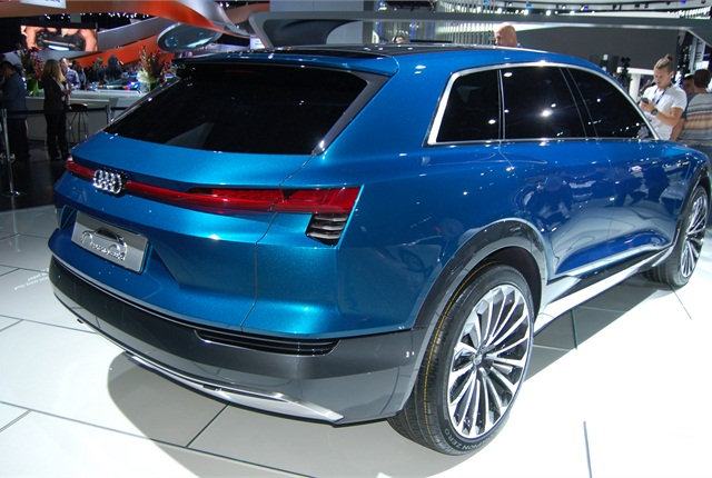 Photo of Audi e-tron quattro concept SUV by Amy Hercher.