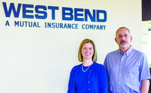 West Bend Mutual Insurance Company's Heather Dunn, assistant vice president, corporate accounting, and Tom Krause, purchasing/fleet manager, work closely on fleet issues and concerns.