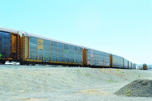 Rail cars come into Union Pacific's Mira Loma, Calif. facility. Photo courtesy of Adam Pringle.