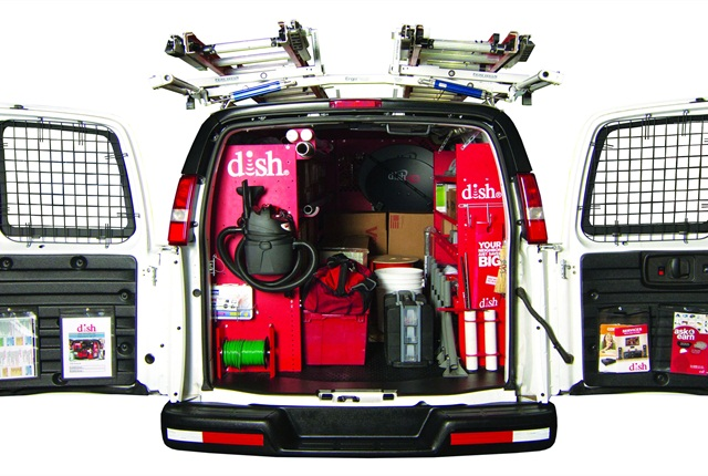 DISH has worked closely with upfitter Leggett & Platt to create a standardized, highly functional DISH-branded cargo van. The upfitter is currently developing DISH-specific packages for the new Euro-style vans rolling out on the U.S. market.
