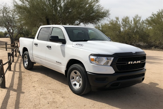 The 2019 Ram 1500 offers up to 2,300 pounds of payload in a four-door Quad Cab configuration, which is a 22% increase compared to its predecessor.
