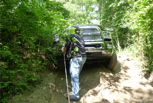We came upon a Ram 3500 dually in distress and unspooled the winch.