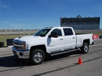 The 2017 Chevrolet Silverado 2500 HD handled well on the autocross course. Photo: Chris Wolski