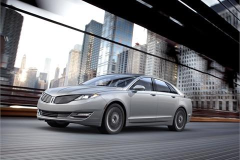 The 2013 Lincoln MKZ Hybrid.
