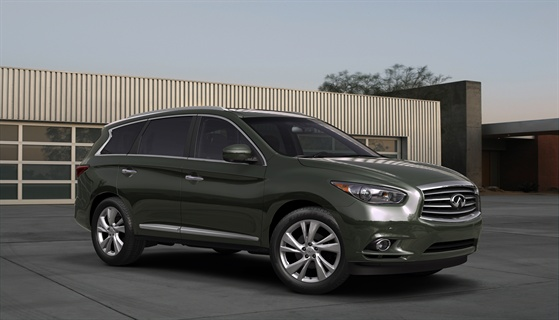 The 2013-MY Infiniti JX Concept, a seven-passenger luxury crossover.