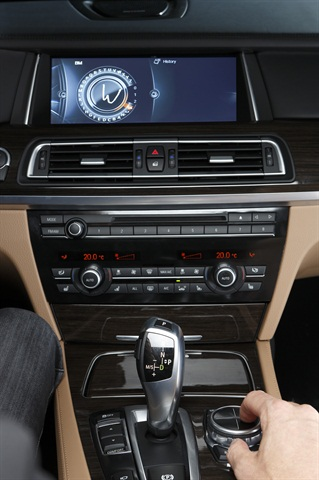 The overall system in a late-model BMW dash.
