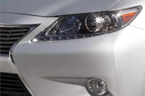 A teaser photo of the 2013-MY Lexus ES.