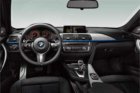The cockpit in the M Sport edition.