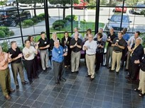 Chrysler Presents Award to Ed Bobit at BBM Headquarters