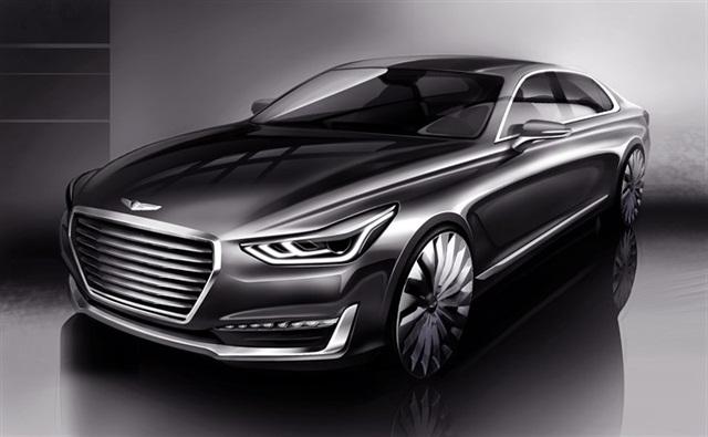 Rendering of the Genesis G90 courtesy of Hyundai.
