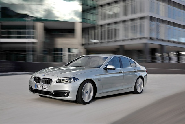 """BMW said it modified the contour lines around the BMW """"kidney"""" grille for 2014. Photo courtesy BMW."""