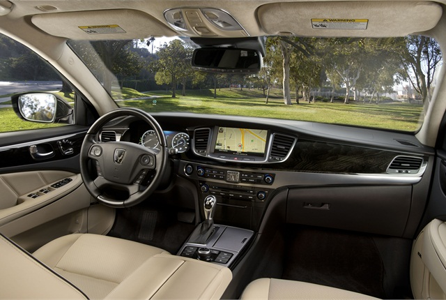 Inside, Hyundai redesigned the configurations of the center stack so it's more ergonomic and the rear console. The automaker also changed button configurations to make them easier to use. Photo courtesy Hyundai.