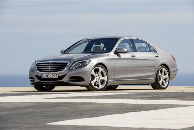 Mercedes used more aluminum in the 2014-MY S-Class' design. Photo courtesy Mercedes-Benz.