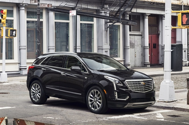 Photo of the 2017 XT5 luxury crossover courtesy of Cadillac.