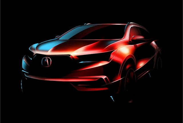 Illustration of 2017 MDX courtesy of Acura.