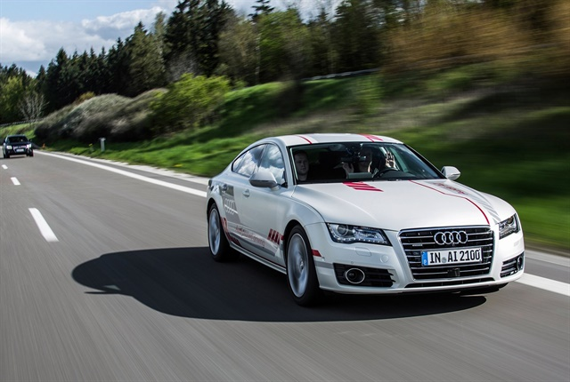 Photo of A7 piloted driving concept courtesy of Audi.