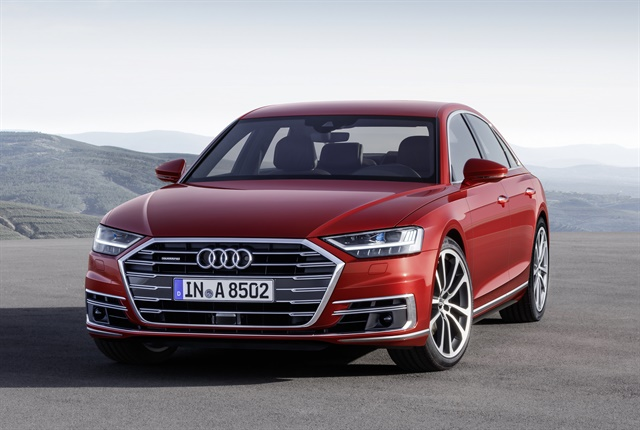 Photo of 2019 A8 courtesy of Audi.
