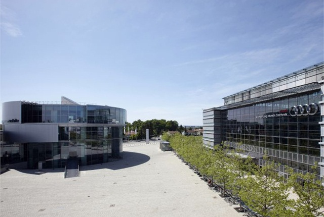 Photo of Audi headquarters courtesy of Audi.