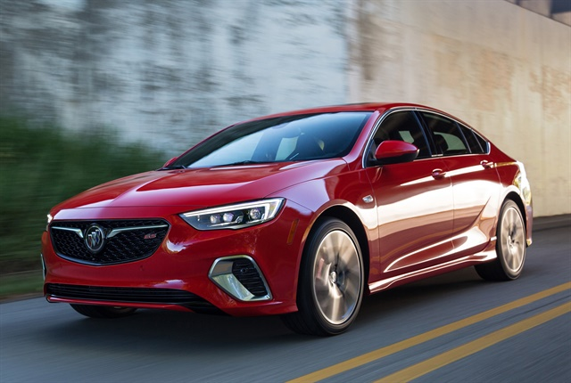 Photo of 2018 Buick Regal GS courtesy of GM.