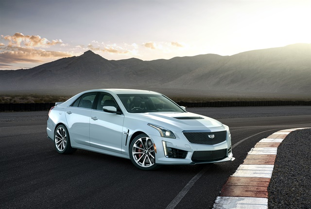 Photo of 2018 CTS-V Glacier Metallic Edition courtesy of Cadillac.