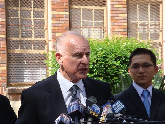 Photo of Gov. Jerry Brown via Wikimedia.