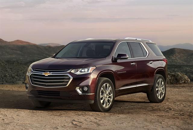 Photo of 2018 Chevrolet Traverse courtesy of GM.