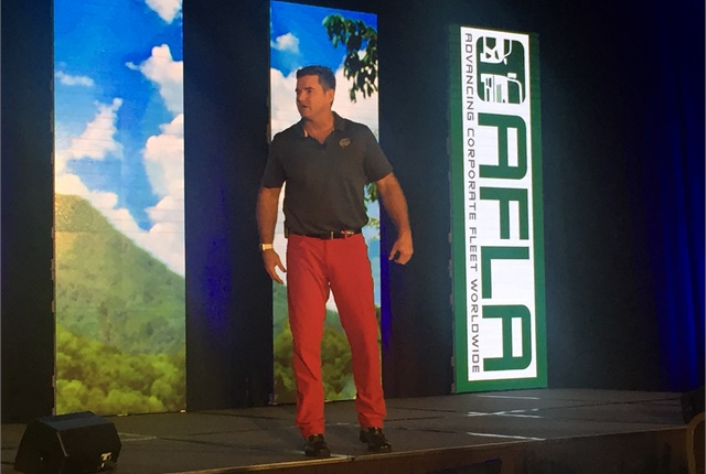 Keynote speaker Dave Rutherford discussed how to use in business the values and lessons learned as a Navy Seal. Photo courtesy of AFLA.