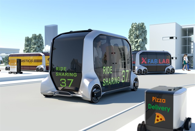 Graphic of the e-Palette Concept Vehicle courtesy of Toyota.