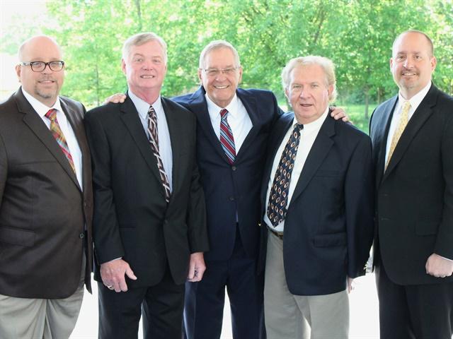 (l. to r.) Ron Mawaka, Jr. , Claude Nolty, Ron Mawaka Sr., Myron Zadony, Scott Mawaka.