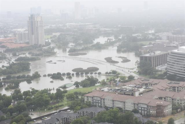 Photo of a flooded Houston on Aug. 27 Courtesy: U.S. Coast Guard.