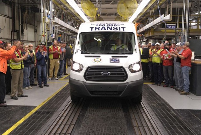Ford produced its 100,000th Transit van in June. Photo courtesy of Ford.