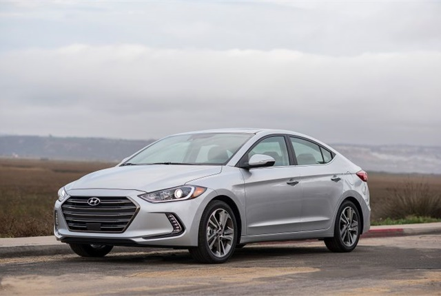 Photo of the 2017 Elantra courtesy of Hyundai.