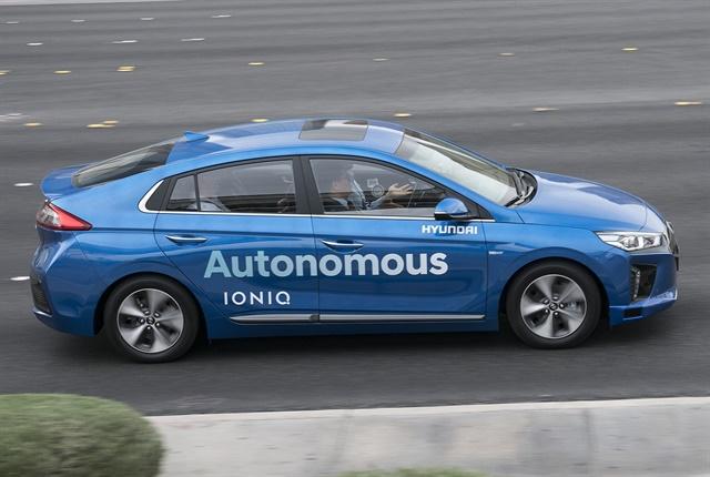 Photo of autonomous Ioniq courtesy of Hyundai.