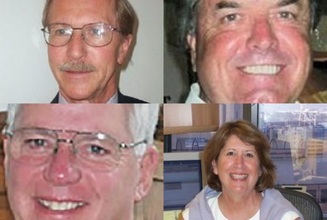 (clockwise from upper left) Janik, McNulty, Nyland, and Conner