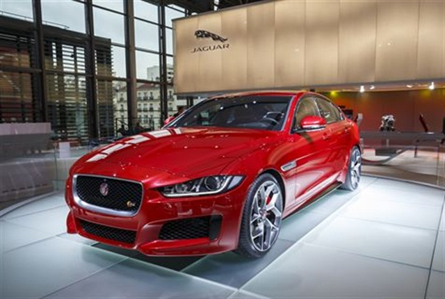 Photo of the Jaguar XE at the Paris Motor Show, courtesy of Jaguar.
