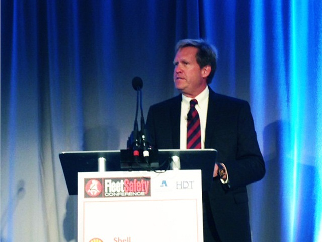 Mike Watson, Shell's global road safety manager, discussed the importance of leader behavior in creating a safety culture during the 2015 Fleet Safety Conference. Photo: Chris Wolski
