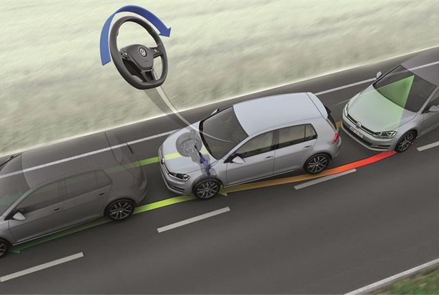 Image of active lane departure warning system courtesy of Volkswagen.