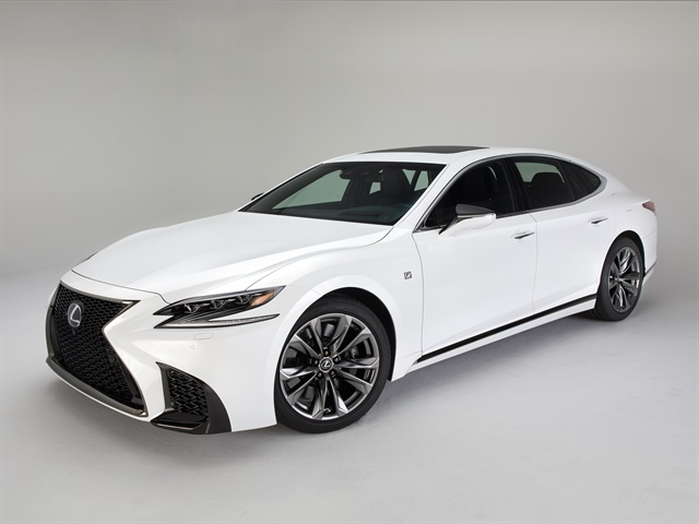 Photo of the 2018 LS 500 F Sport courtesy of Lexus.