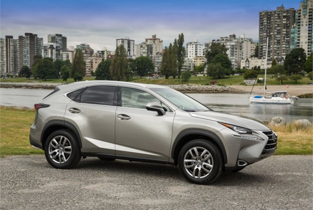 Photo of 2015 Lexus NX 200t courtesy of Toyota.