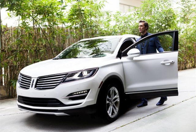 Lincoln launched an advertising campaign for its MKC compact SUV featuring actor Matthew McConaughey. Photo courtesy of Lincoln.