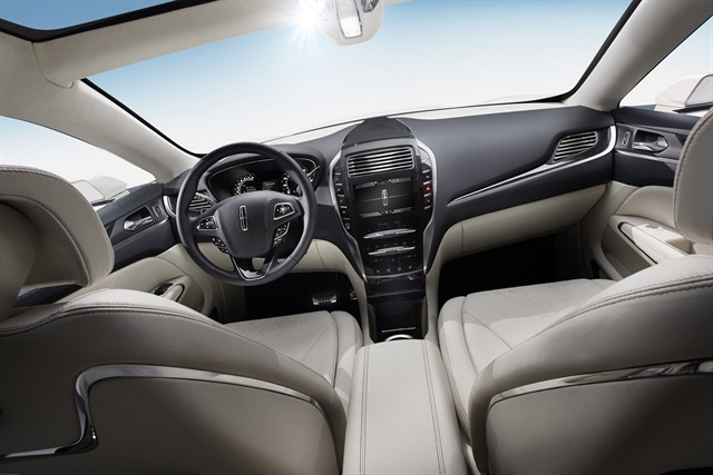 The MKC Concept features premium leather throughout the interior. Photo courtesy Lincoln.