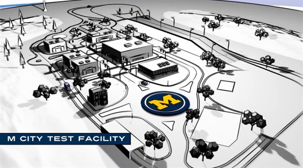 Screen shot from the University of Michigan's video, Driving The Future of Mobility.