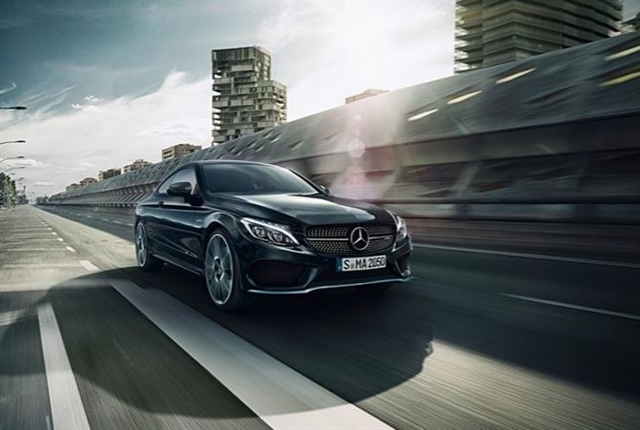 Photo of the Mercedes-AMG C43 4Matic Coupe courtesy of Mercedes-Benz.