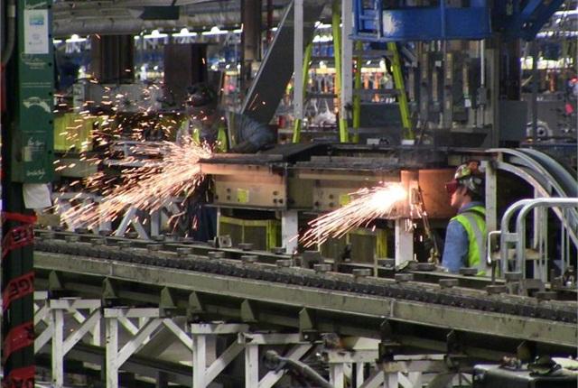 Photo of Detroit-Hamtramck assembly plant courtesy of GM.