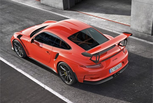 Photo of 911 GT3 RS courtesy of Porsche.