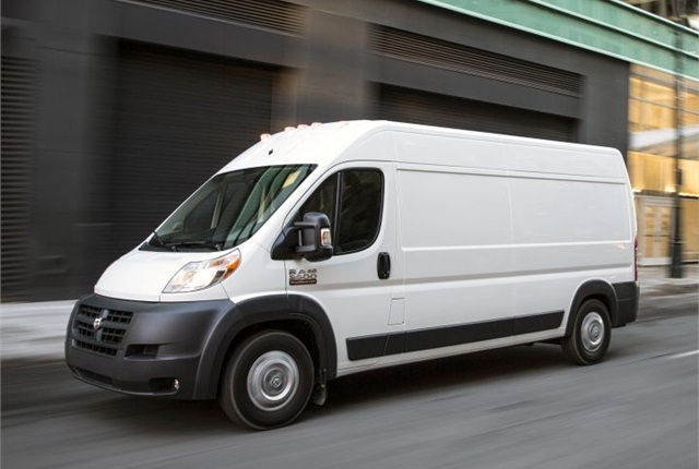 Photo of ProMaster van courtesy of FCA US.