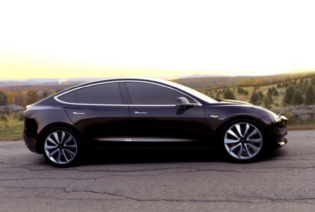 Photo of Model 3 courtesy of Tesla.