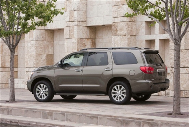 The IIHS study notes that the 2011 Toyota Sequoia 4WD SUV is among the nine models recording a driver death rate of zero. Photo courtesy of Toyota.